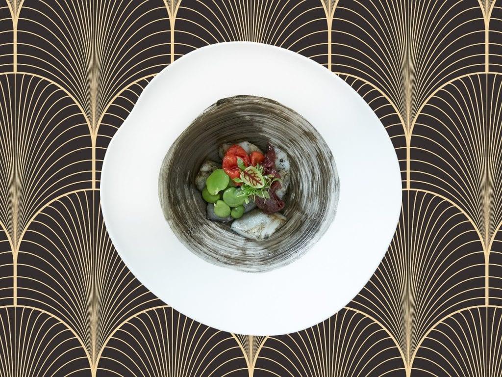 1. Seppia, fave e cipolla rossa Menu del Doge al gritti palace