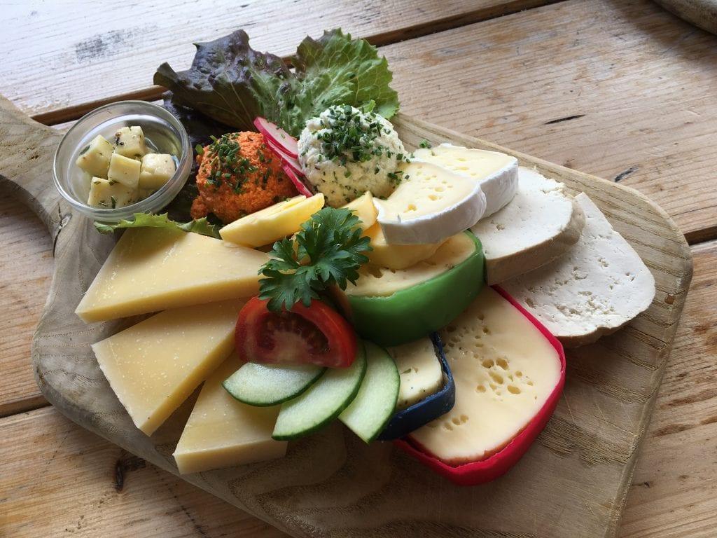 Tagliere di formaggi d'alpeggio di Egger Alm, Austria