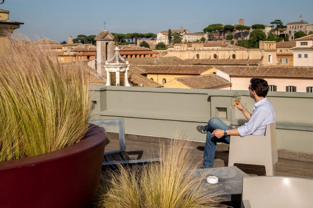 La terrazza di Jacopa dell'Hotel San Francesco