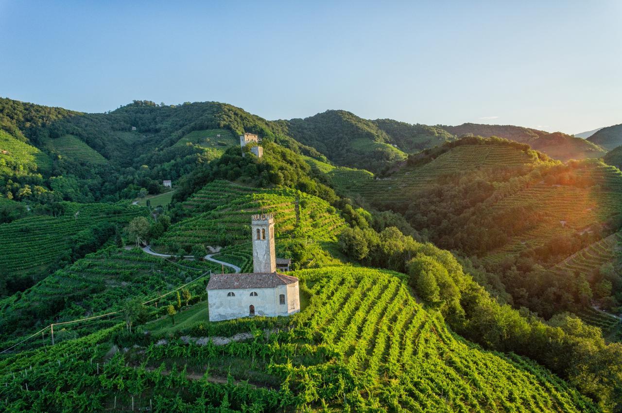 Paesaggio del Conegliano Valdobbiadene Prosecco, patrimonio dell'umanità Unesco