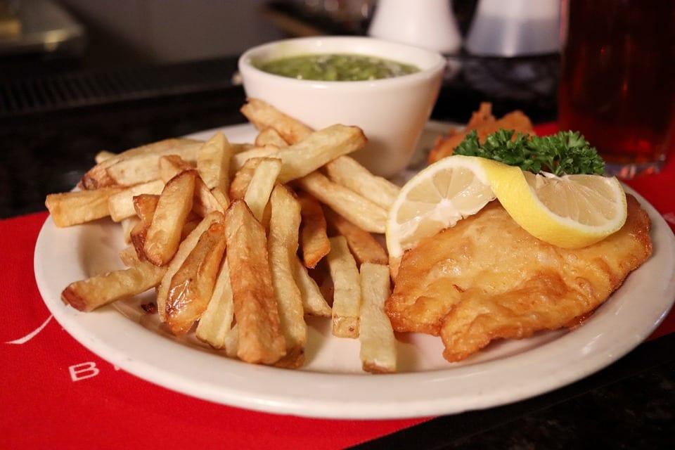 Piatto di fish and chips