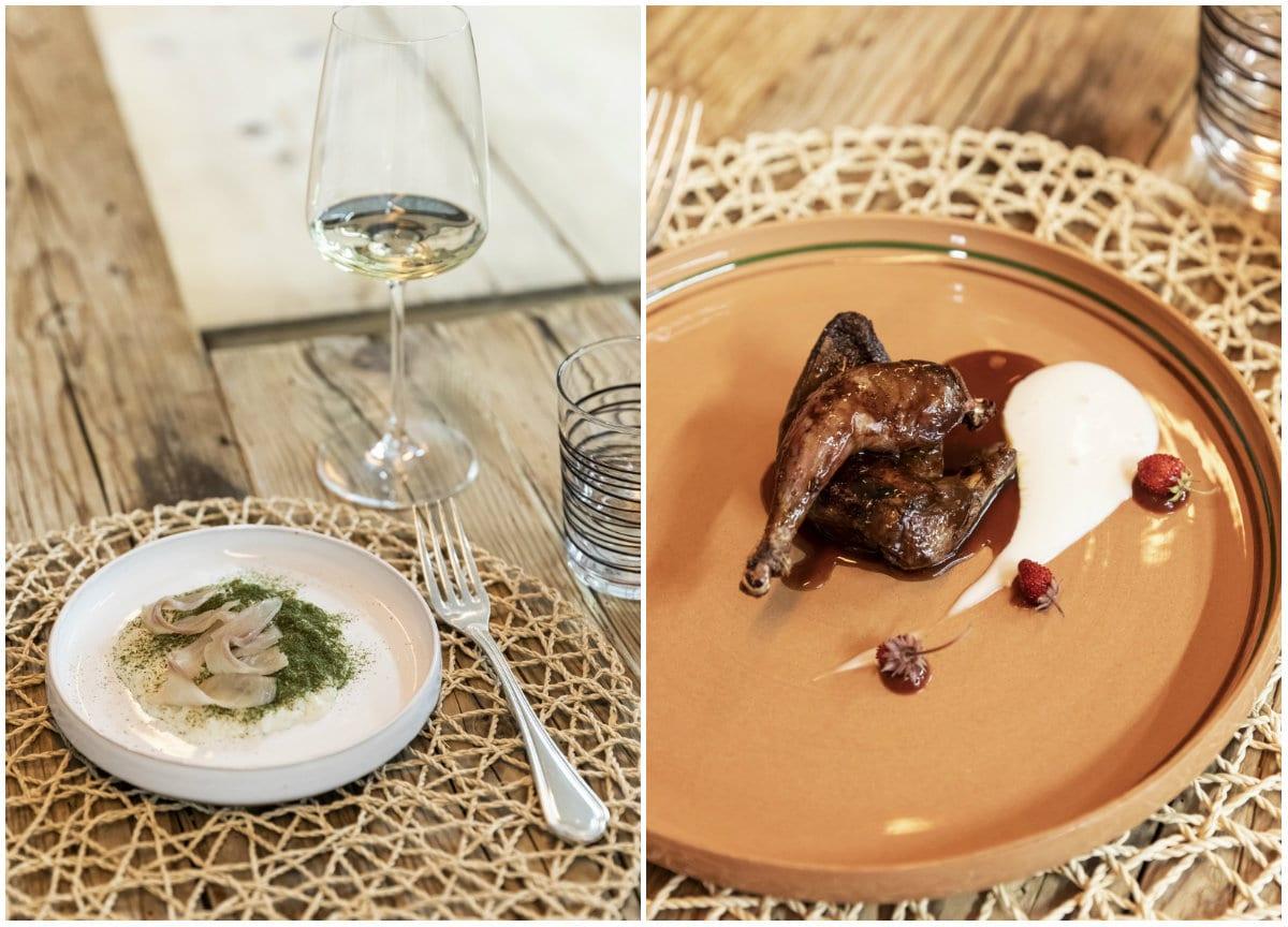 Val Sarentino La Fuga - piatti risotto e piccione