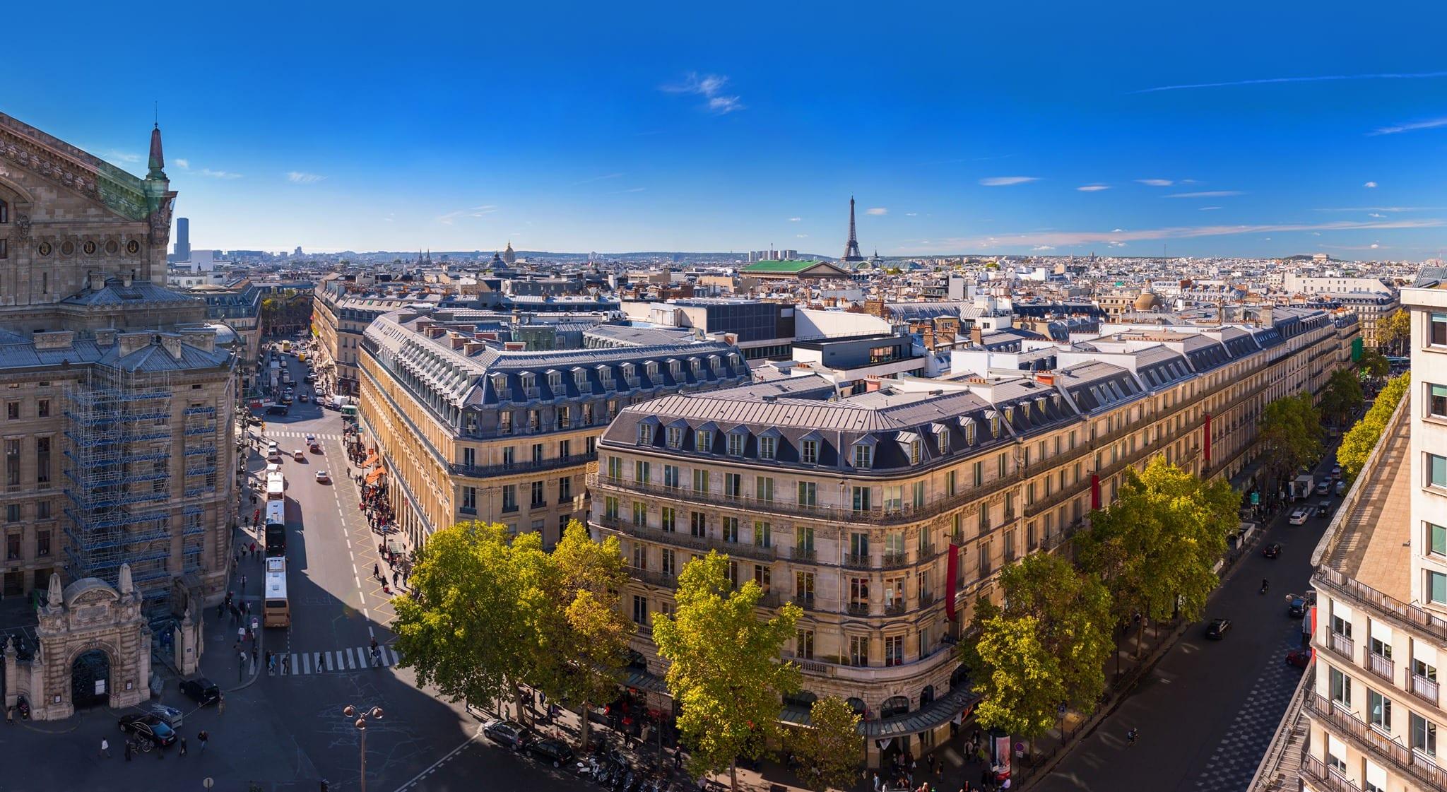 Vista panoramica dalla terrazza de Lafayette, Parigi