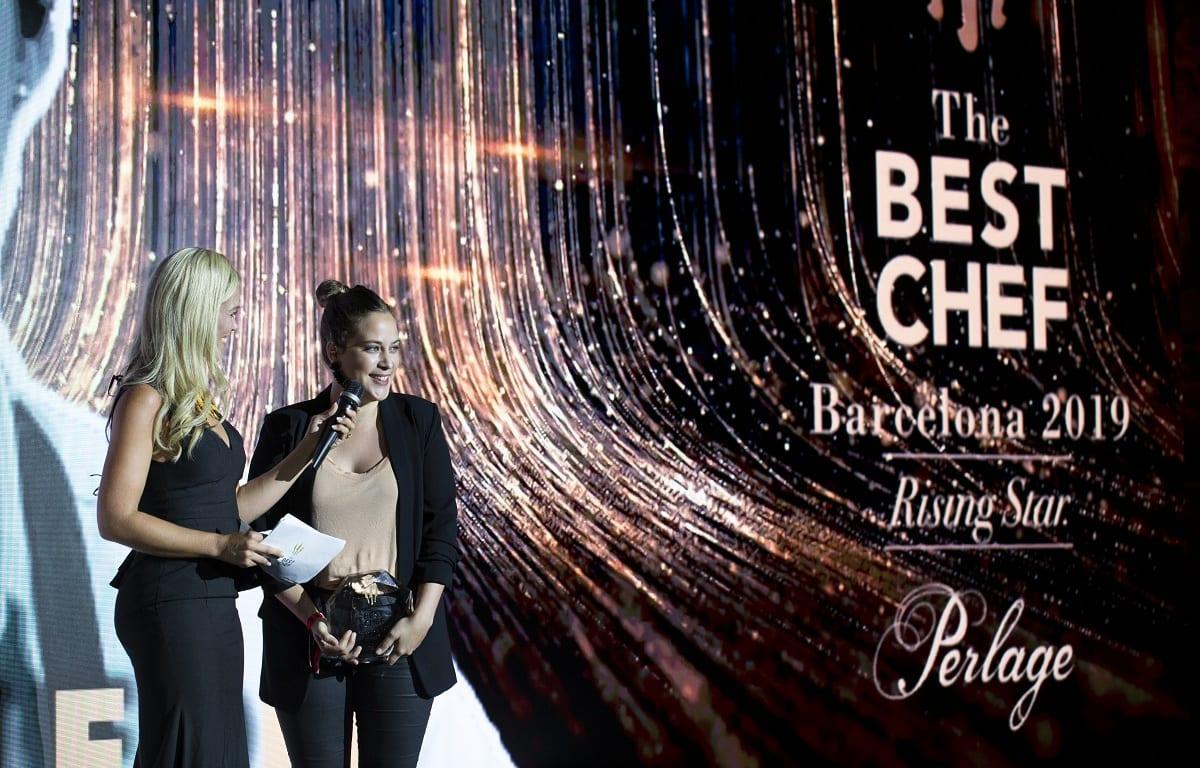 Pia Leon ritira il premio Chef Rising Star