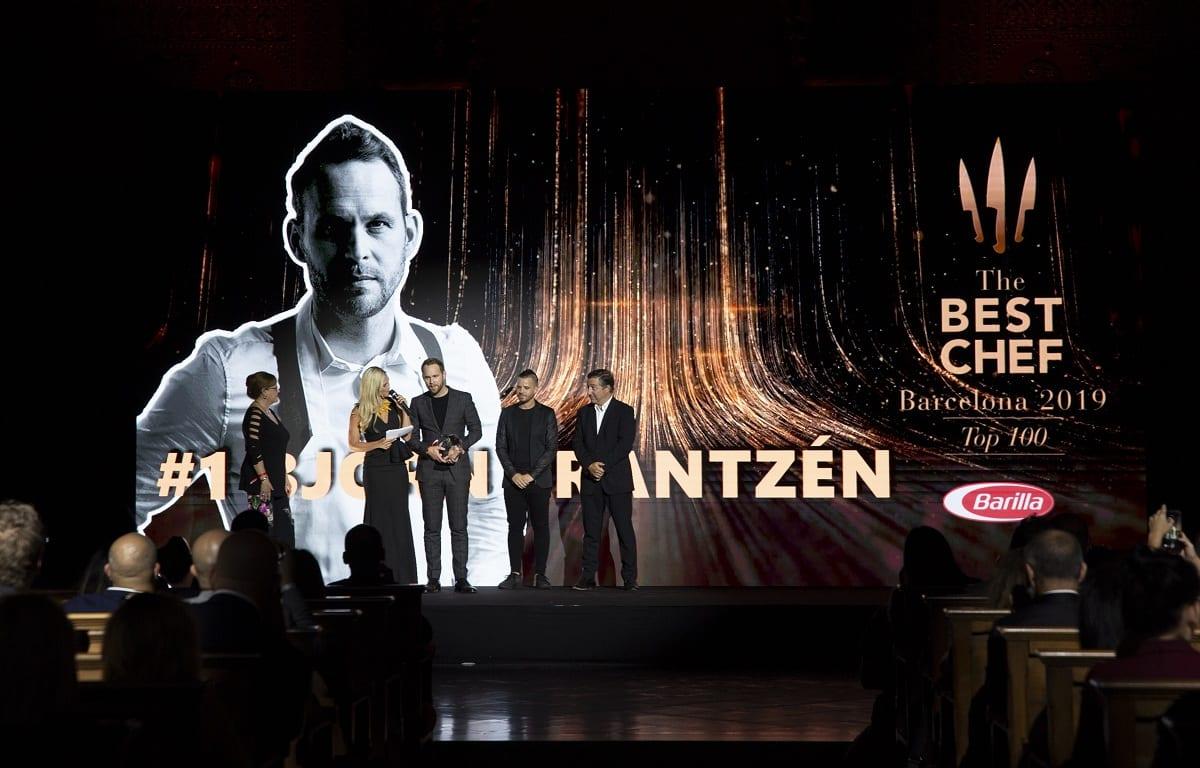 Chef sul palco di The Best Chef Awards 2019