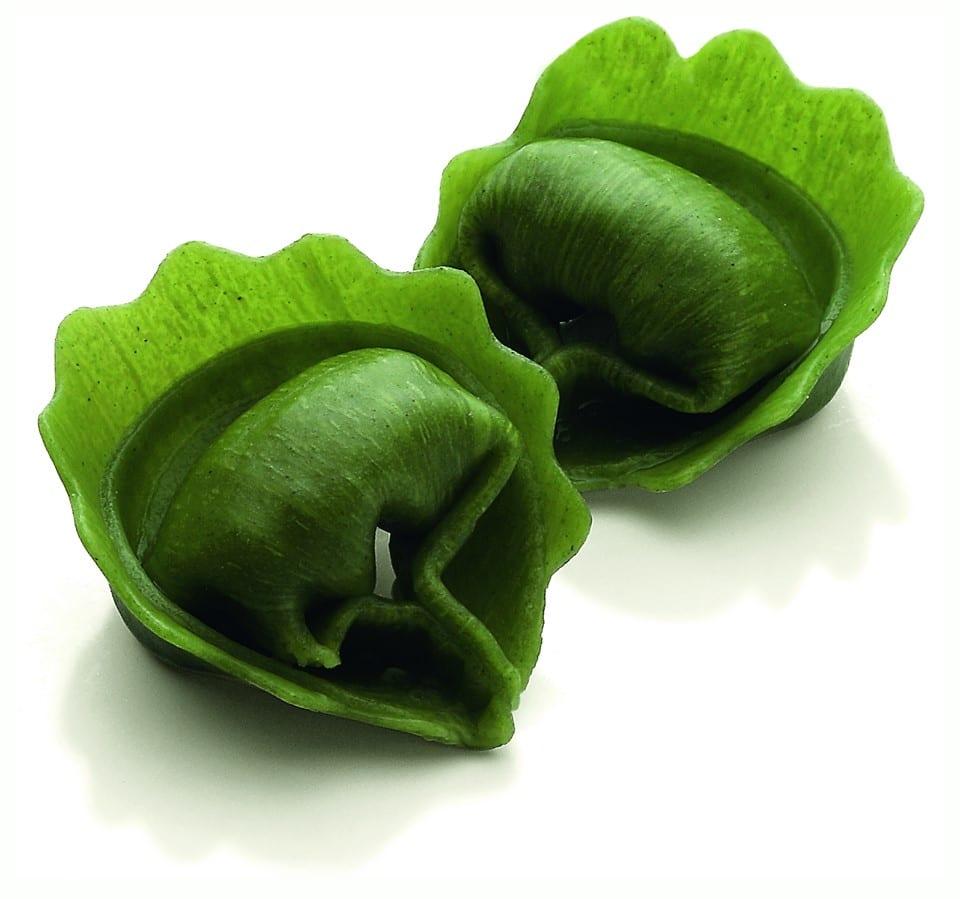 Tortelli di pasta verde all'uovo