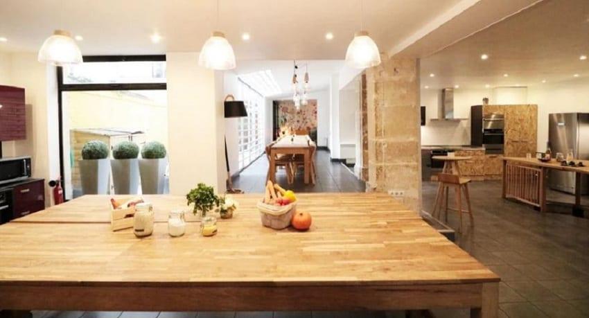 La sala e la cucina di For the love of food, a Parigi