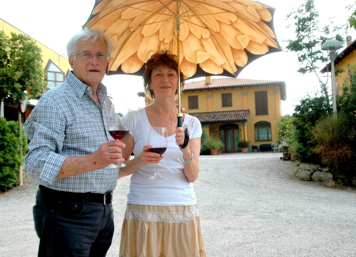 Pignoletto vino - Carlo Gaggioli e la figlia Letizia