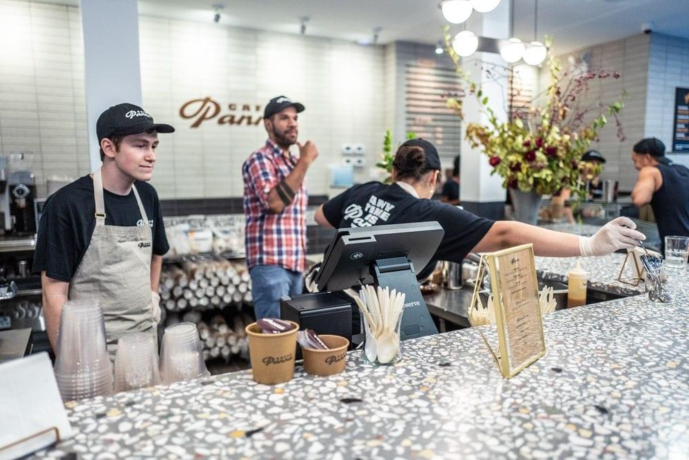 Il banco di Caffè Panna a New York