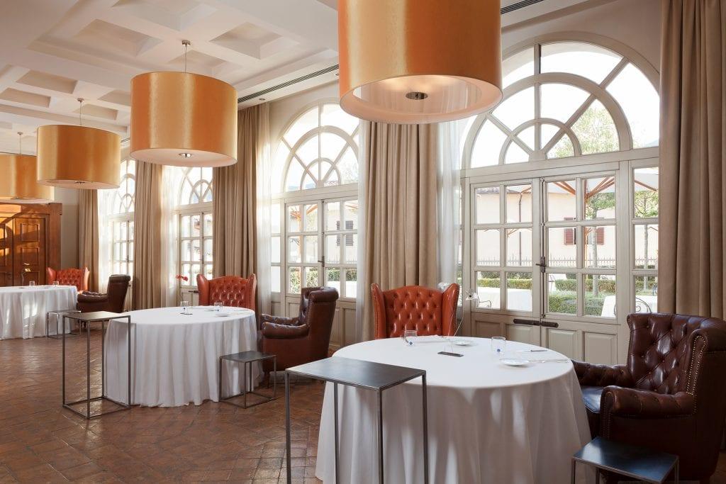 La sala del ristorante Vespasia