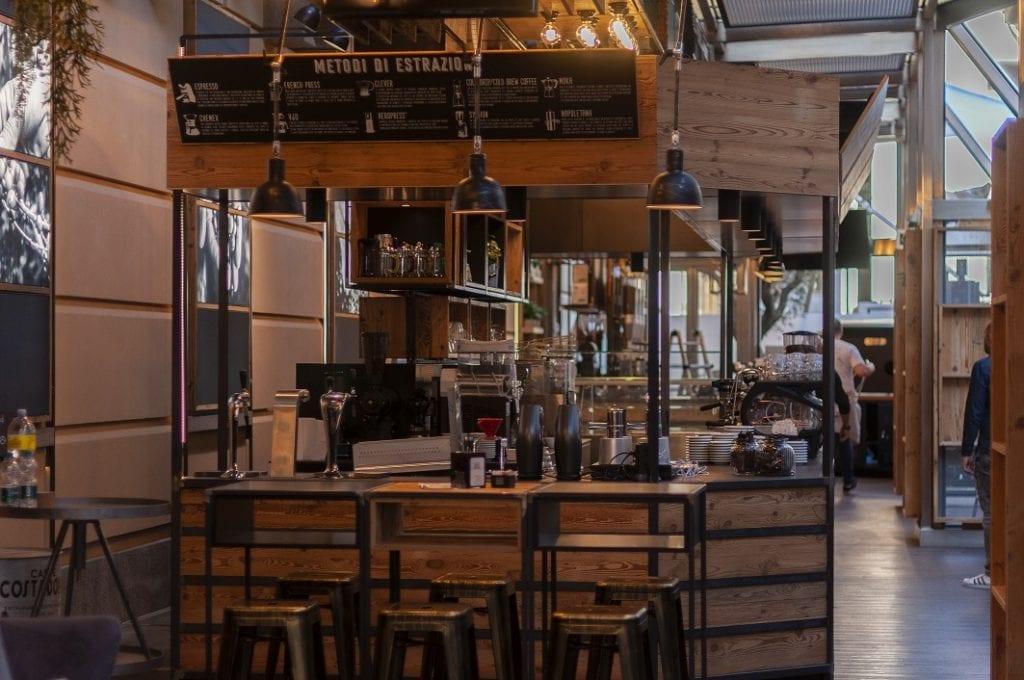 Costadoro Social Coffee Factory, bancone