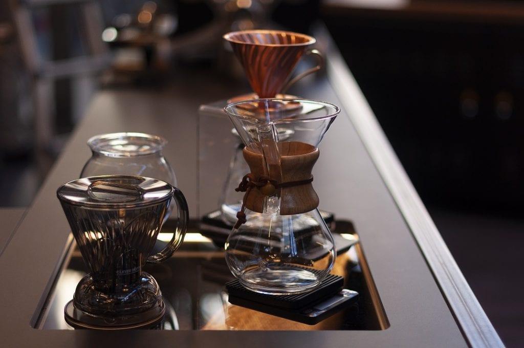 Caffè estratto in v60