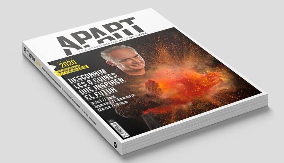 Il primo numero del magazine Apart, con Ferran Adrià in copertina
