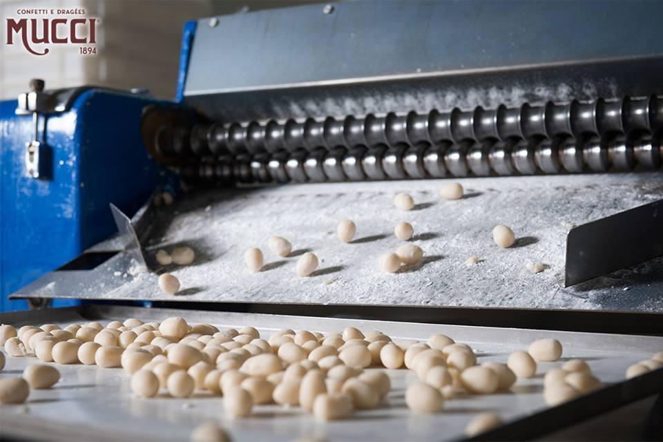 Il processo di produzione dei confetti alla confetteria Mucci