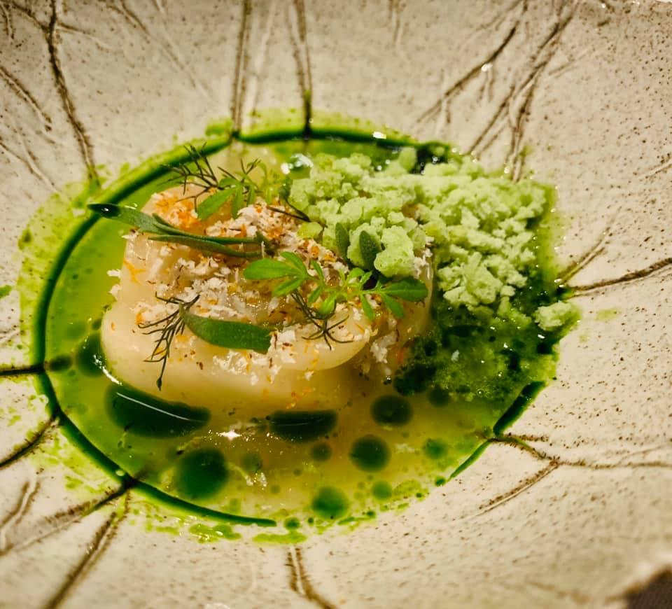 Un piatto al ristorante Da Terra di Londra