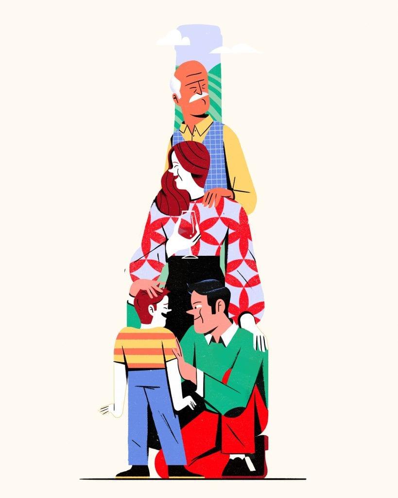 De Buris. Primavera - Family Illustratore Antonio Sortino