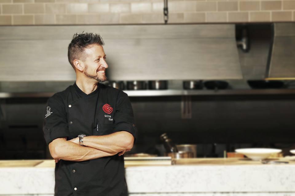 Christian Milone in cucina