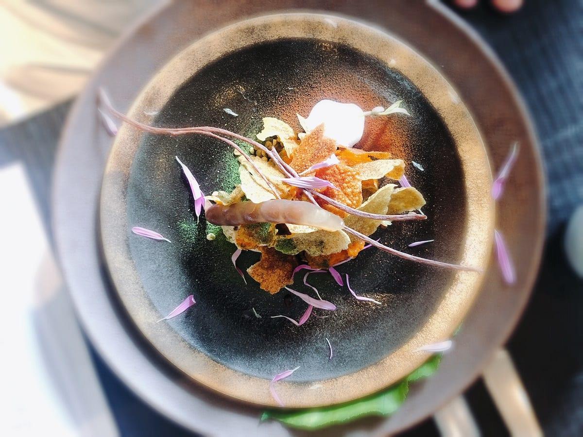 Un piatto vegetale presentato a The Vegetarian Chance