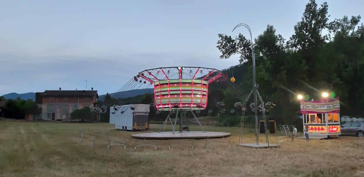 Una giostra mobile nell'Appennino della Val Borbera