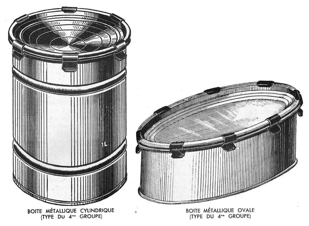 I disegni delle prime latte per conservare cibo di Nicolas Appert