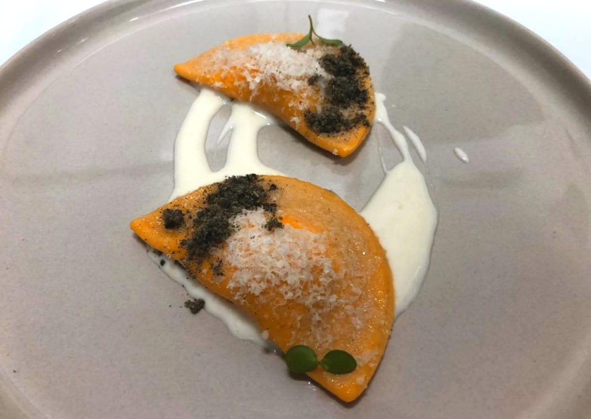 Ronchettino Milano Mezzelune ripiene di formaggio di capra e zucca