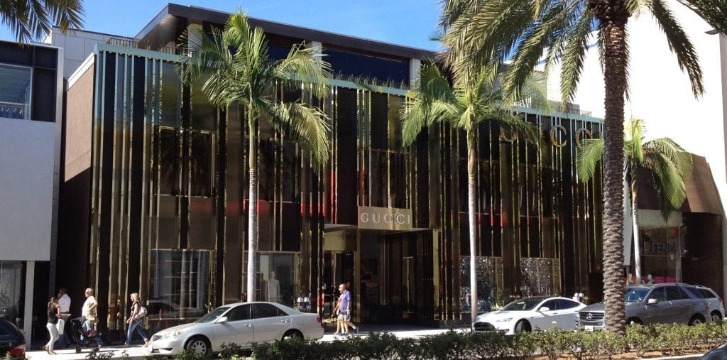 Lo store di Gucci su Rodeo Drive a Beverly Hills