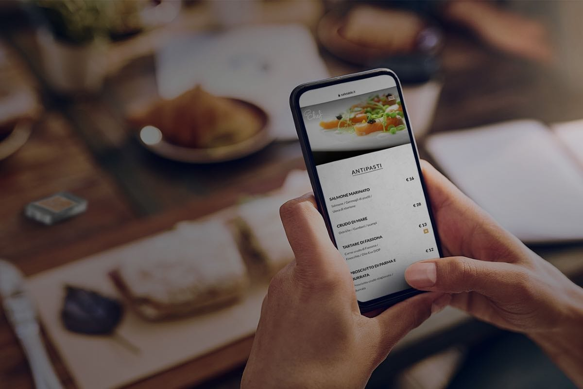 menu digitale Safe Table