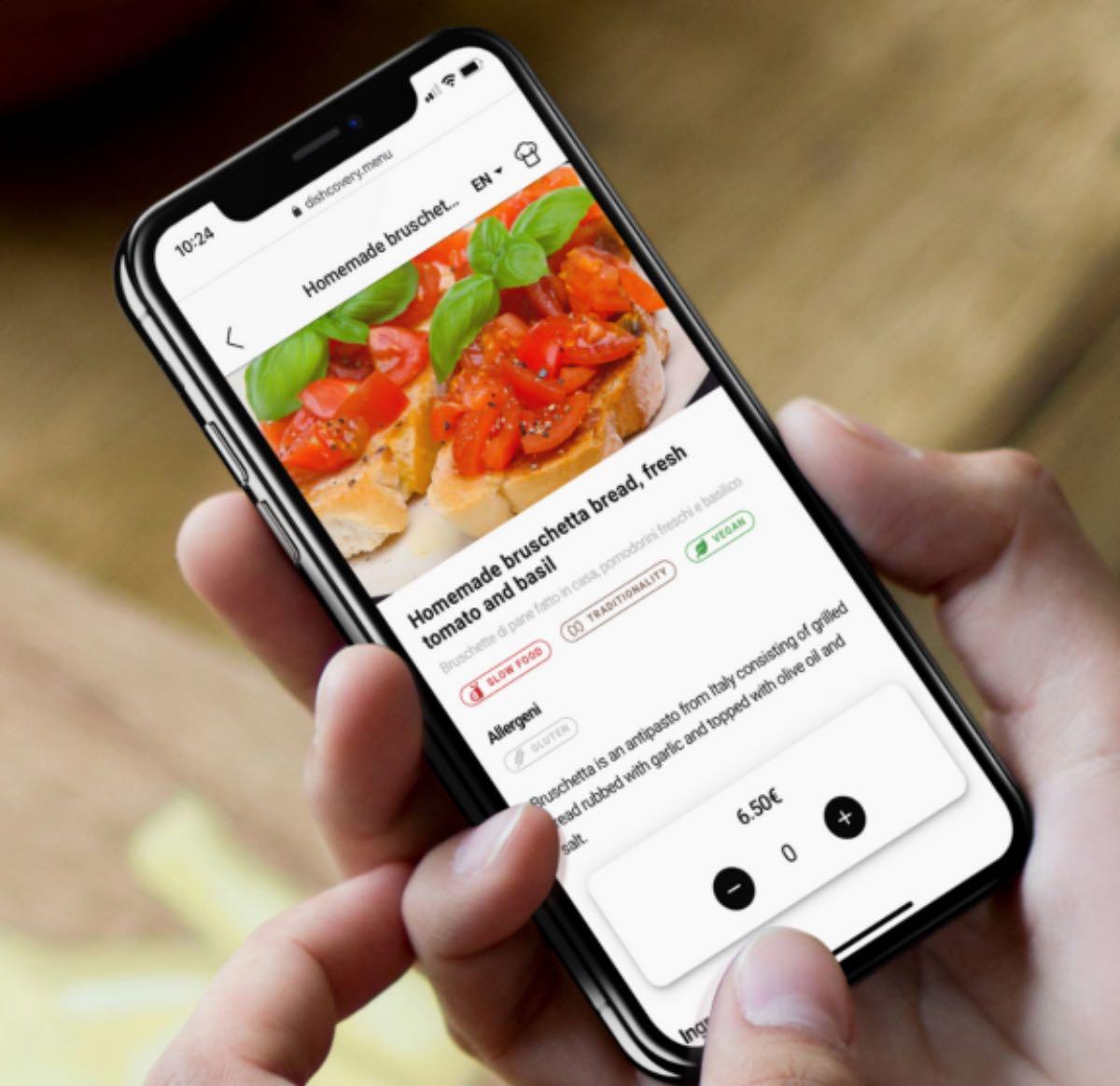 Dishcovery menu digitali