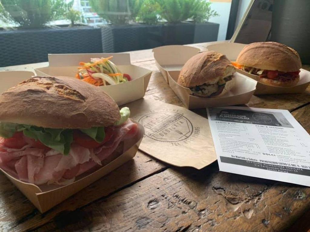 asporto di officina alimentare dedicata Parma