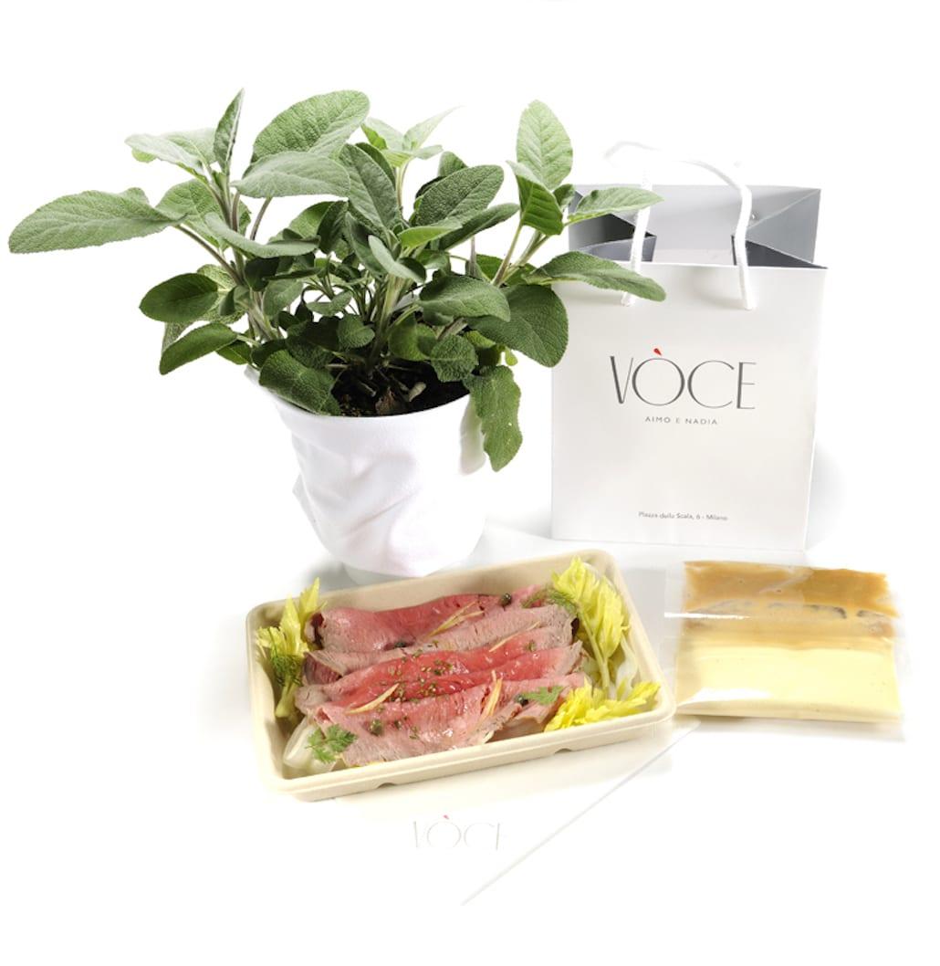 Vòce delivery Vitella di montagna con salsa tonnata Foto Paolo Terzi
