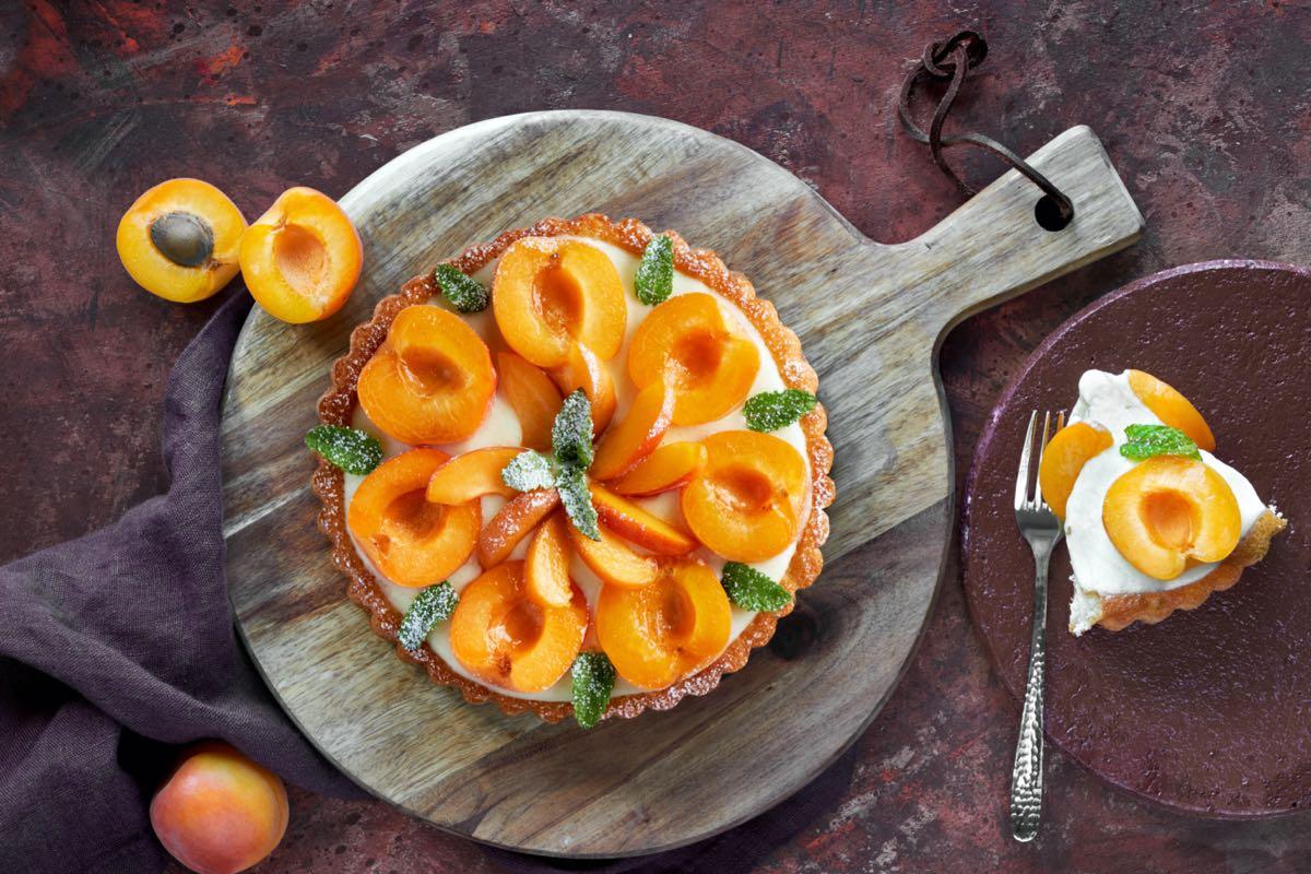 torte estive - crostata di albicocche