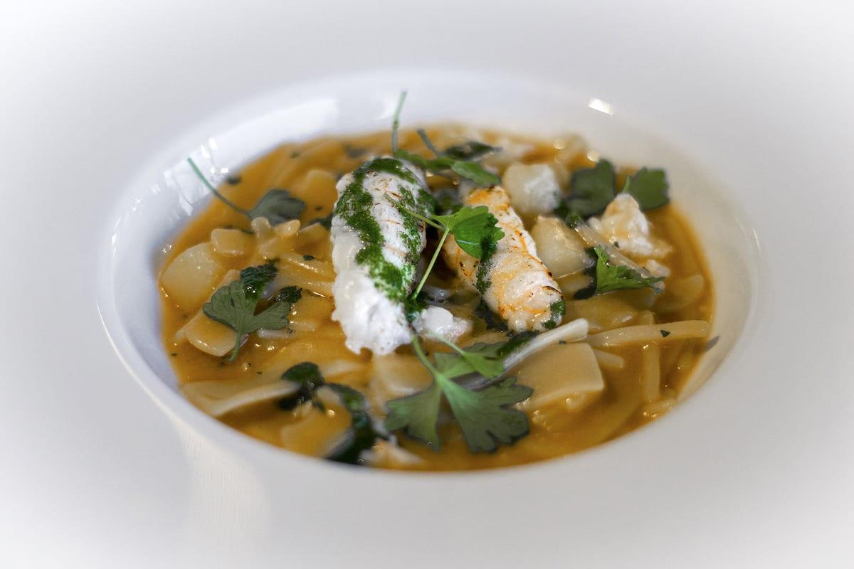 Il Glicine SANTA CATERINA chef STANZIONE Pasta e patate con gli scampi Foto Alessandro Zanoni