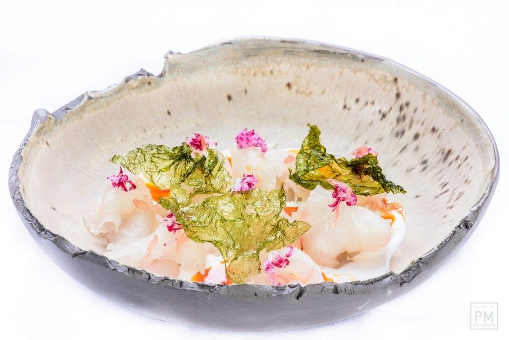 pinchiorri. carpaccio di cernia bianca. Foto Palo Matteoni