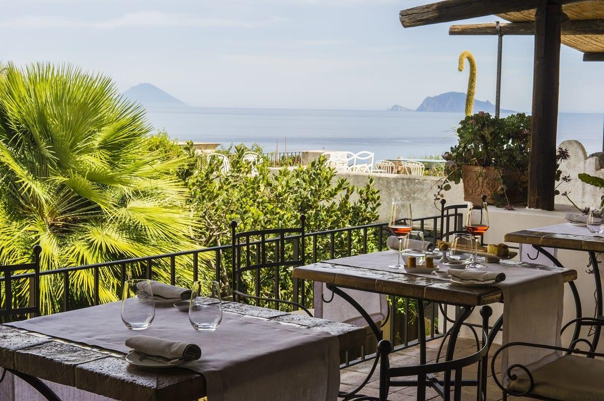 Il ristorante in terrazza del Signum