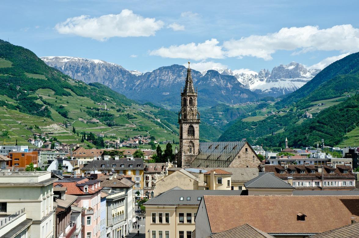 Bolzano, vista dall'alto