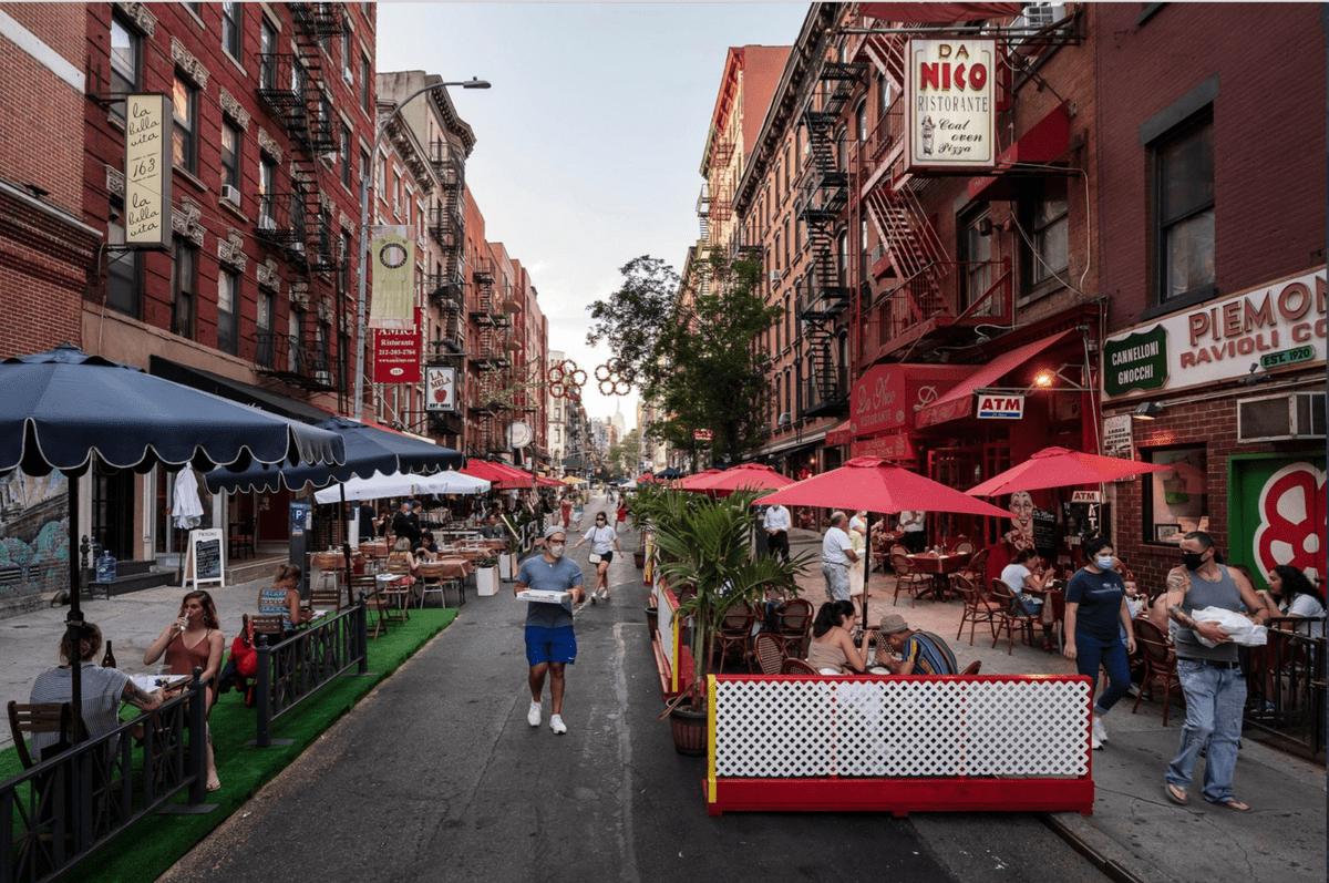 Open streets a New York
