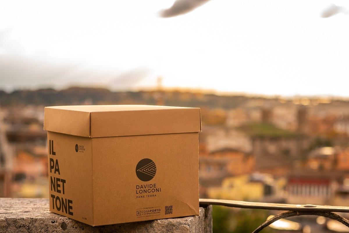 Il packaging del panettone di Davide Longoni