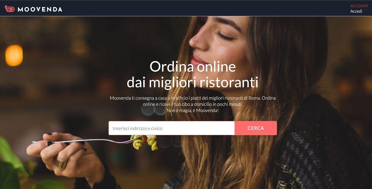 L'homepage di Moovenda