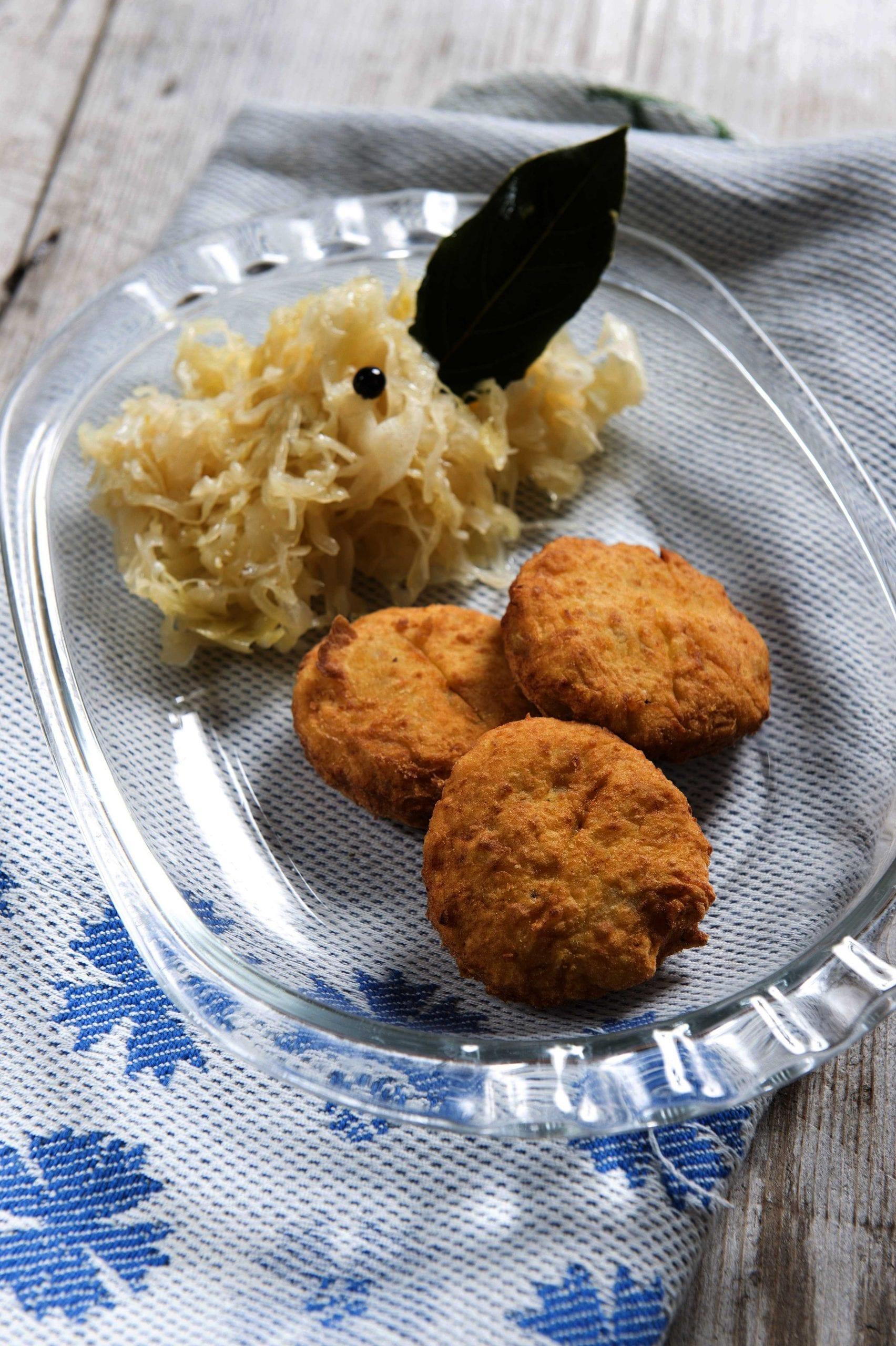Frittelle di patate con crauti
