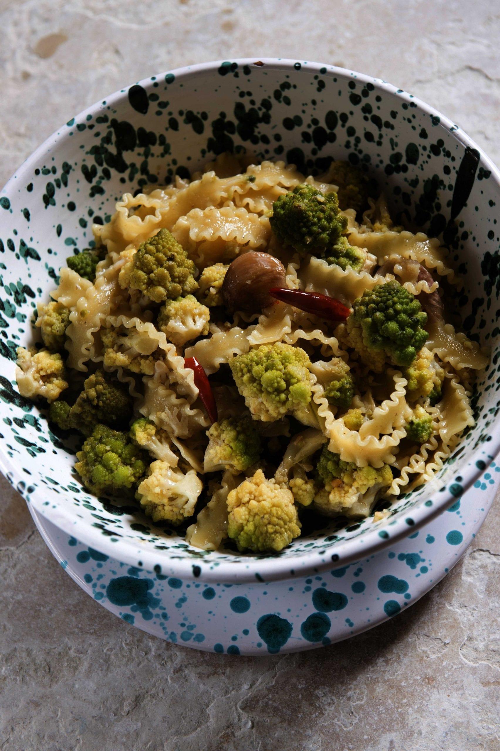 Minestra di broccoli in brodo di arzilla