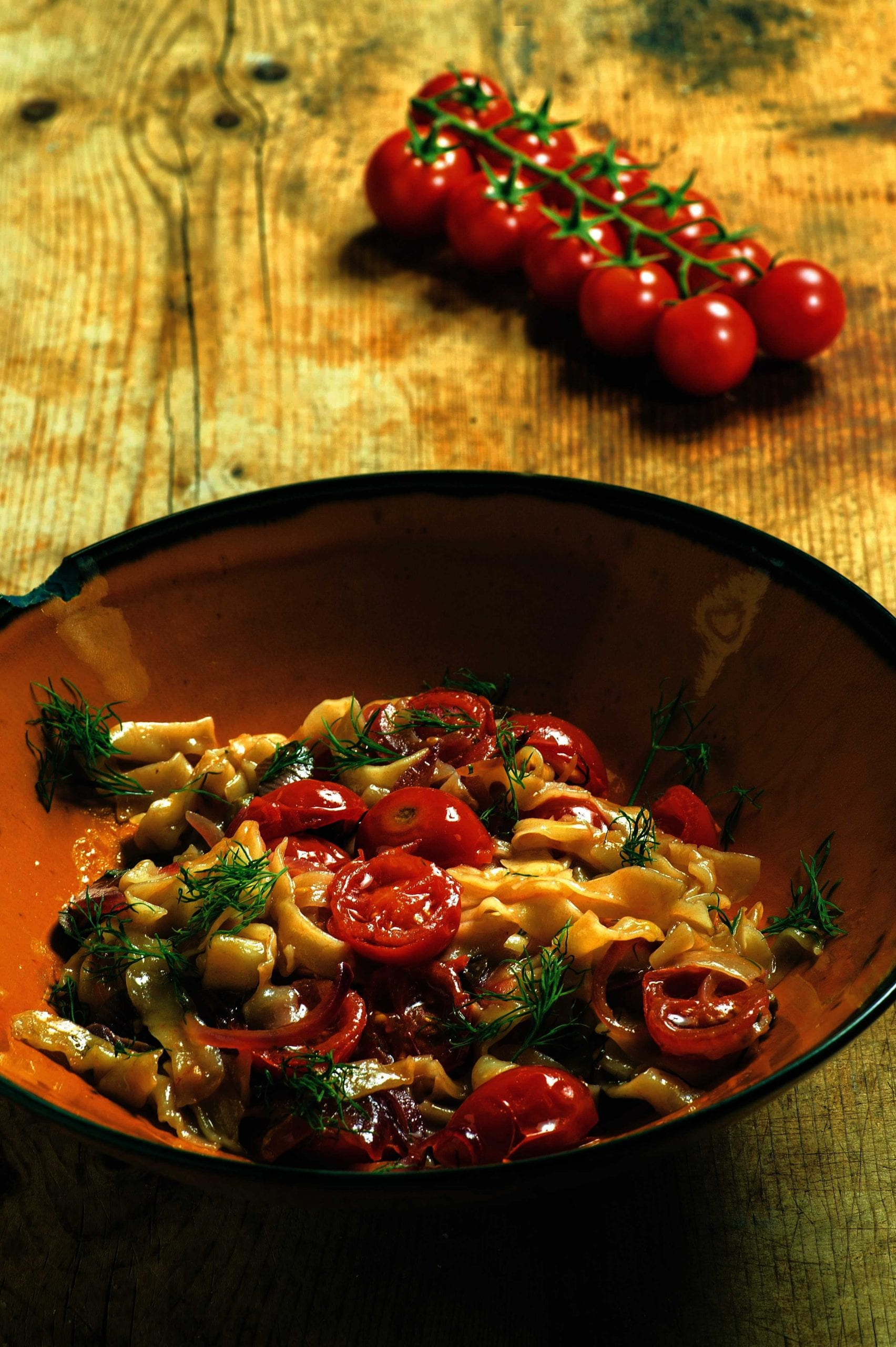 Tagliolini con olive giarraffa