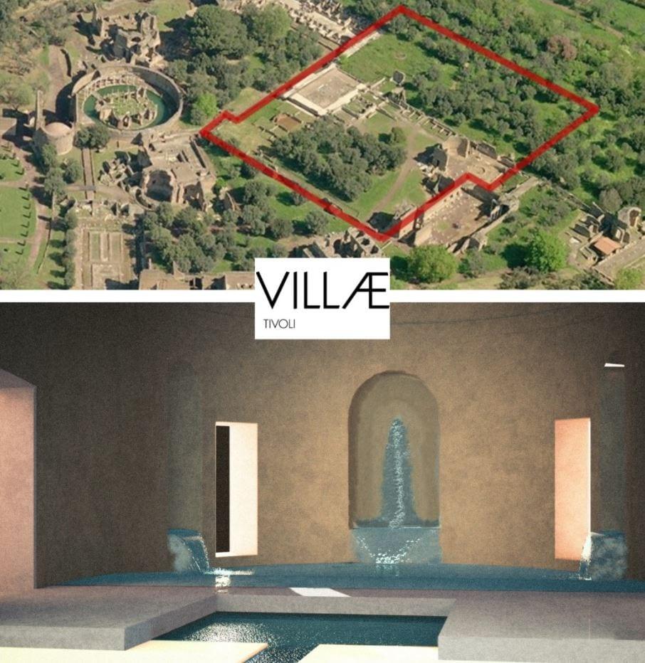 L'area del triclinio acquatico di Villa Adriana