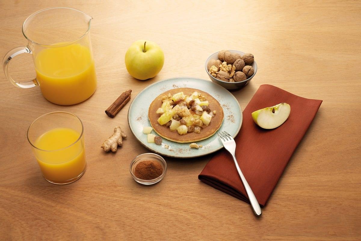 Pancake con mele e cannella