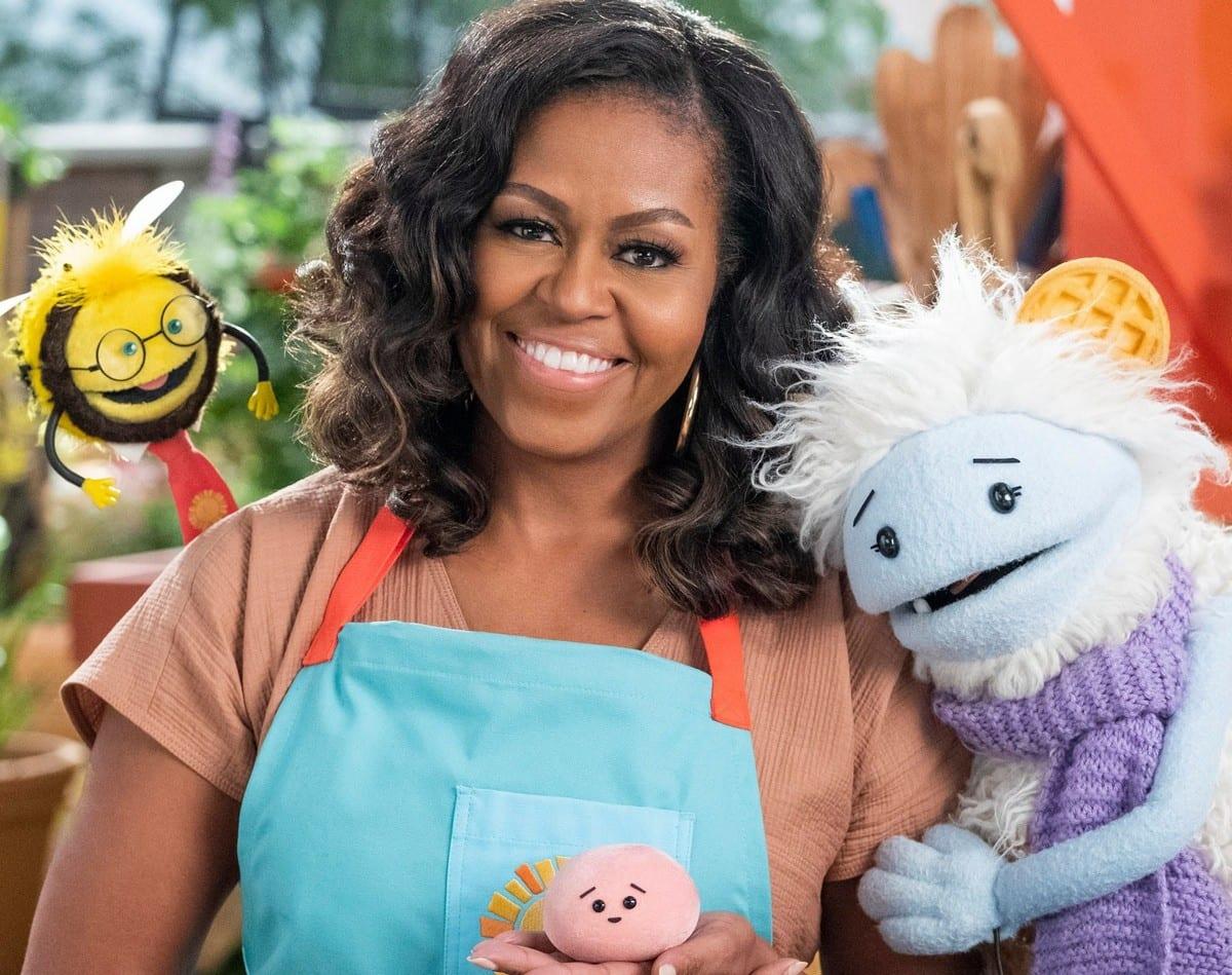 Michelle Obama nella serie Waffle+Mochi