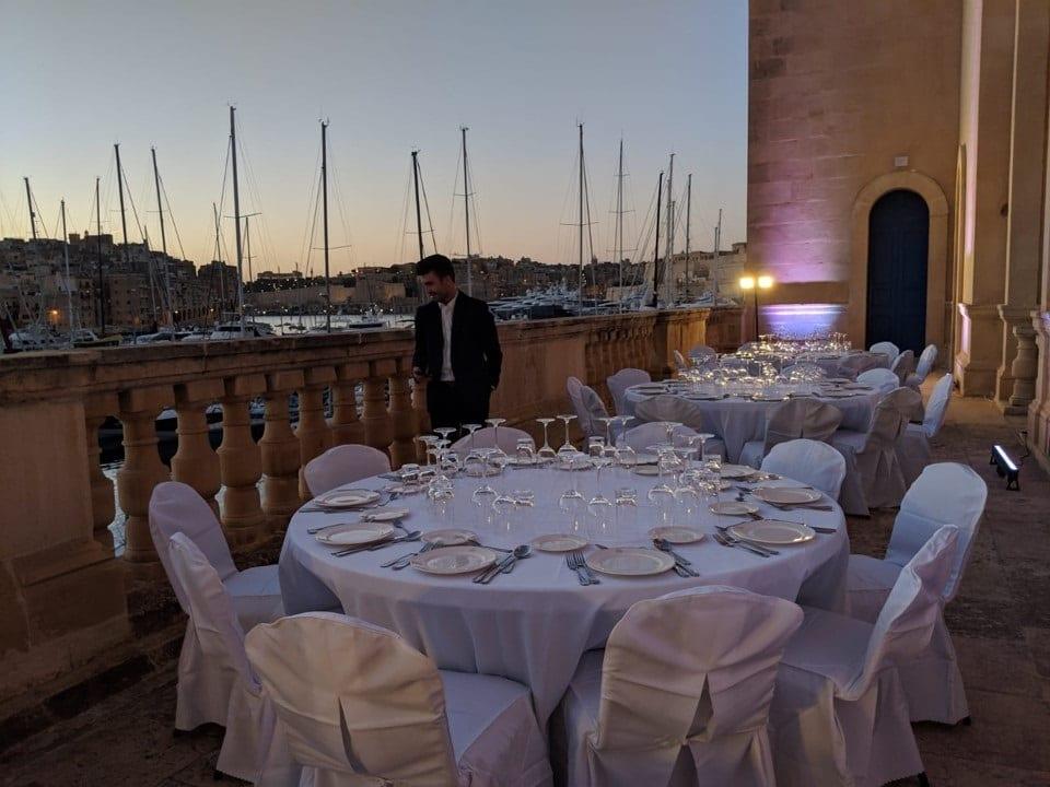 La terrazza del Museo Maritime di Malta