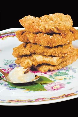 Fegato fritto con composta di cipolle agrodolci