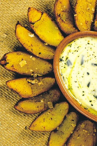 Spoon potatoes