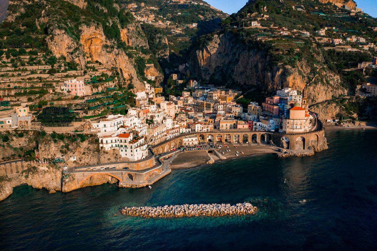 Panorama della Costiera Amalfitana