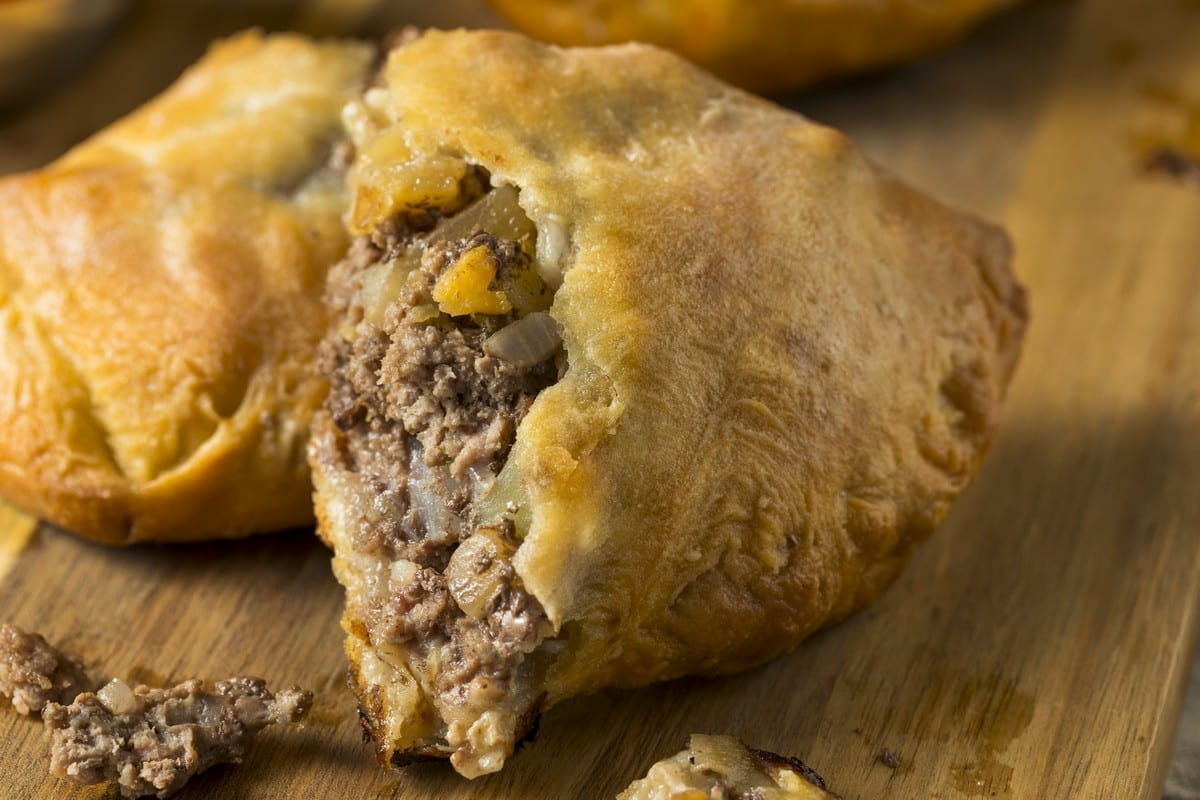 Cornish pasty aperta