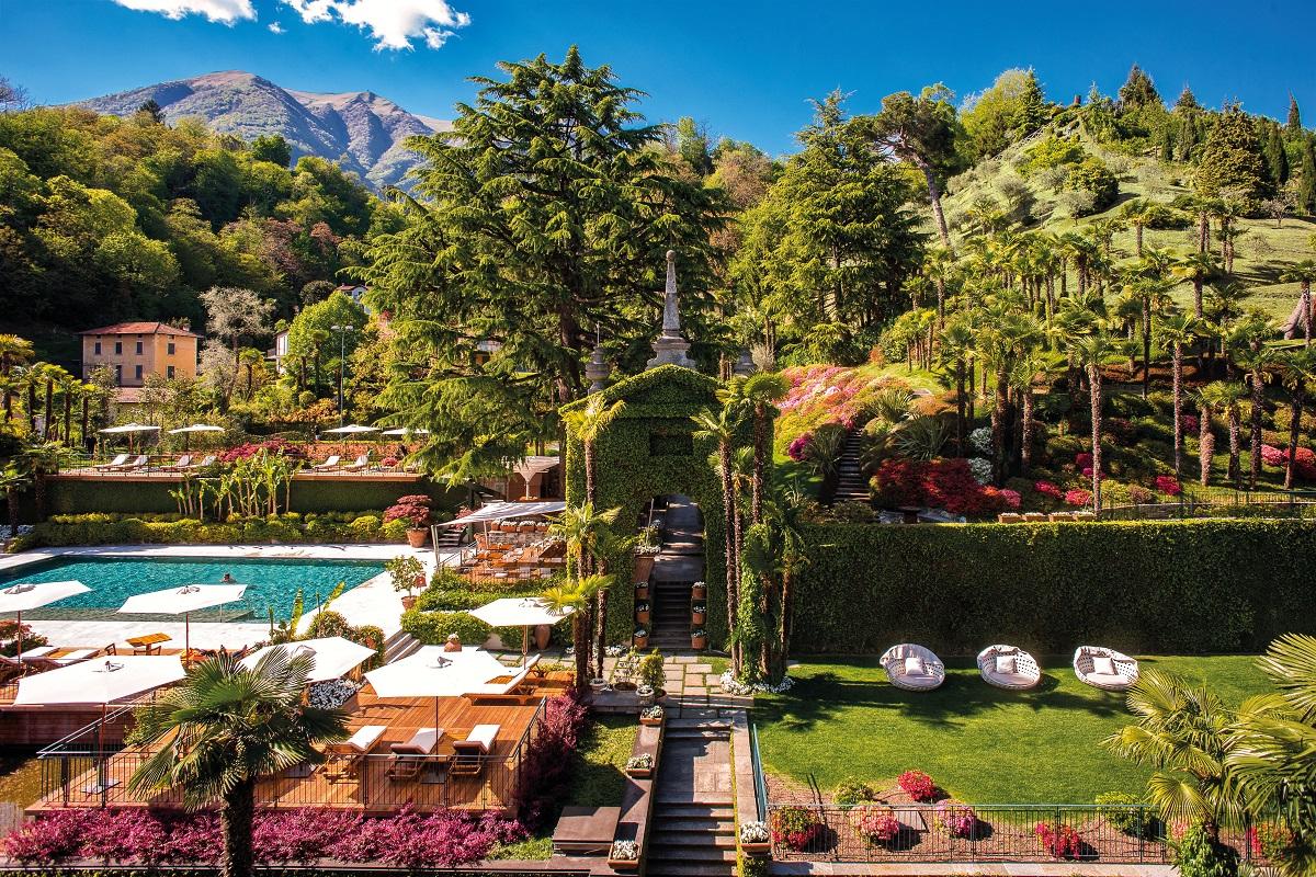 Giardini d'hotel a Como